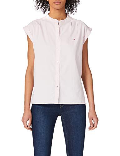 Tommy Hilfiger Oxford Relaxed Shirt NS Camisa, Rosa, 40 para Mujer