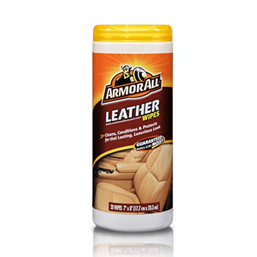 Armor All Car Interior Cleaner Leather Wipes - Cleaning for Cars & Truck & Motorcycle, 20 Count,...