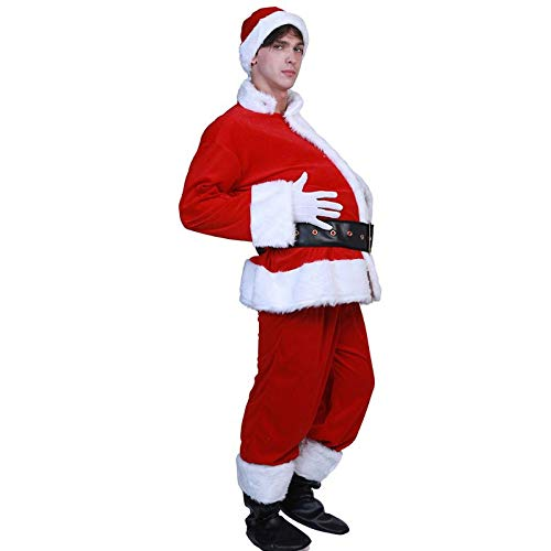 Weihnachtsmann Magen Bier-Bauch Schwangere Red Herren Bauch Stuffer Weihnachtskostüm