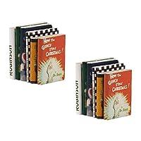 12冊 1/12 ドールハウス ミニチュア 木製 ブック 本 装飾 (カラフル)
