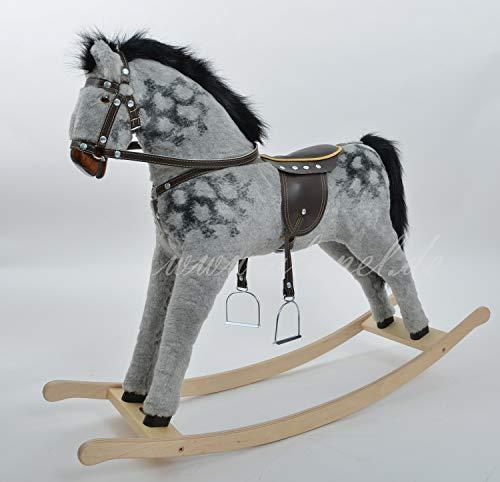miniKids DAPPLE GREY Handmade MEDIUM Rocking Horse MADE IN EUROPE