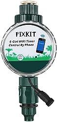 FIXKIT Smarte WLAN Bewässerungsuhr, Bewässerungscomputer, ferngesteuerter Wassertimer, jederzeit Bewässerung, präzise bis zur zweiten, wasserdichten Schutzklasse IP68, für Blumen, Rasen, Sprinkler usw