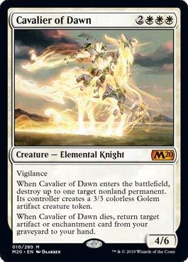 Magic: The Gathering - Cavalier of Dawn - Core Set 2020