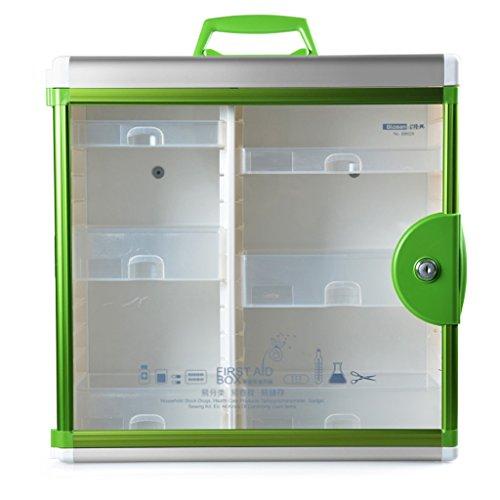 MMM Aluminum Alloy Medicine Chest Familie Mehrgeschossige Startseite Emergency Medicine Box-Wand Tragbare