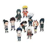 Multiculture Naruto - Imanes para nevera con 10 figuras de Chibi del equipo 7