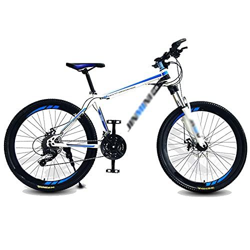 Aoyo Bicicletas De Montaña, Bicicletas De 24 Pulgadas De 24 Velocidades De 24 Pulgadas Y Bicicletas De Velocidad Variable De Carreras De Bicicletas De Carretera(Color:Top con Blanco y Azul)
