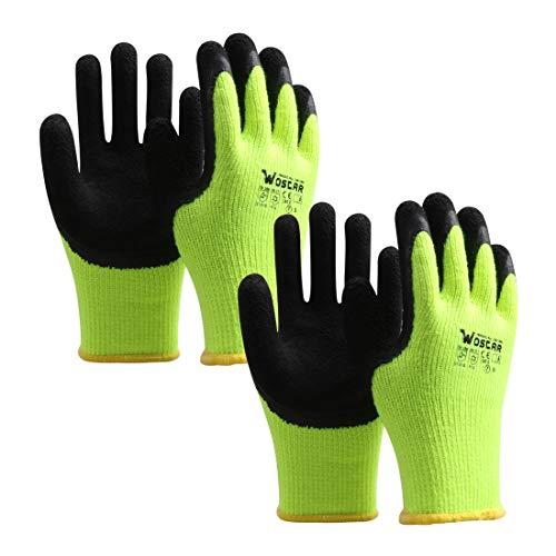 Winter Work Gloves, 2 Pairs mart Touch Acryl Fiber Lined Cold Storage Freezer Work gloves