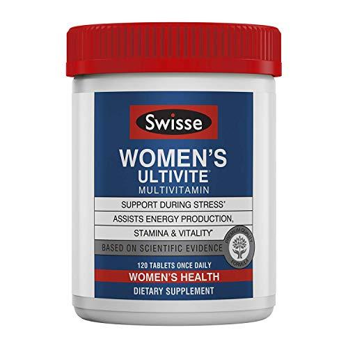 Swisse Premium Ultivite Daily Multivitamin for Women Tablets, 120 Count