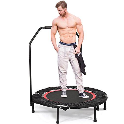 Bunao Trampolín Fitness con Mango Regulable – Cama Elástica para Adultos, Unisex 143 cm (Trampolines de interior7)