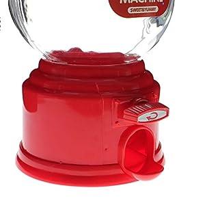 VANKER caramelo dispensador máquina de chicles de Gumball Snacks de almacenamiento de cajas de regalos de juguetes(Rojo)
