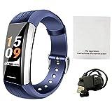 Rejoicing Smartwatch V1 Smart-Sport-Armband Herzfrequenz-Monitor für das Motoren, Blutsauerstoff, Gesundheit und Musiksteuerung, Verschiedene Zifferblätter blau