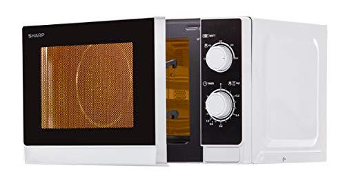 Sharp R-200(IN) W Microondas 20L, Control Mecánico, 800W, Silver, 800