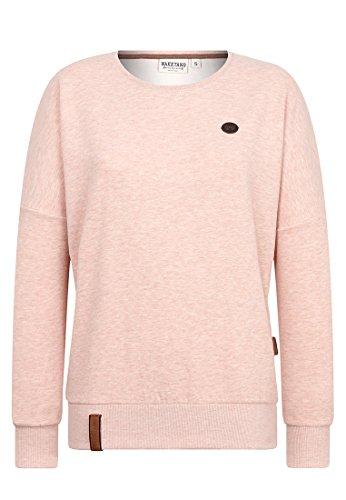 Naketano Damen Sweater 2 Stunden Sikis Sport Sweater-XL-pastel pink melange