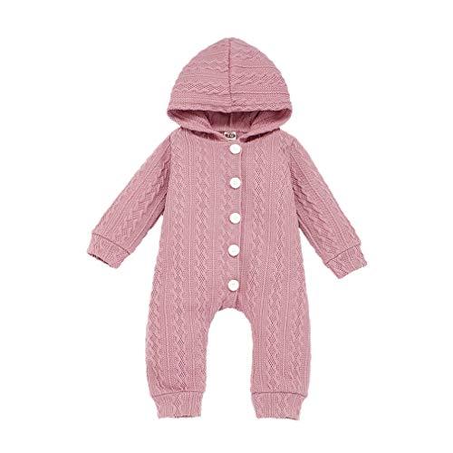 Weilov Infant Bébé Filles Garçons Chaud Chandail Pull Romper Combinaisons Tenues Confortable Jumpsuit Chaud Grenouillère
