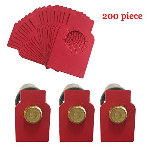 Weinflaschenanhänger Papier Weinkeller Etiketten für Weinregale Marker 200 Stück rot
