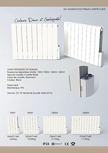 Heliom DIO080922 Radiateur fluide thermostat électronique léa 1500 W