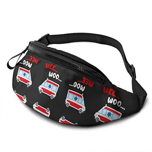 XCNGG Bolso de cintura corriente bolso de cintura de ocio bolso de cintura bolso de cintura de moda Casual Waist Bag Wee Woo Ambulance Amr Funny Ems Emt Paramedic For Men Women Running Travel Fashiona