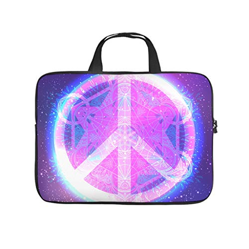 Peace and Love Mandala Pattern Double Sided Printed Laptop Bag Protective Case Slim Neoprene Laptop Bag Case Cover Funny Notebook Bag Tablet Accessories