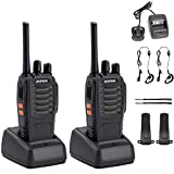 IMURZ Walkie Talkies,BF-888S Long Range Two Way Radio 16CH Single Band Bult in LED Flashlight Voice Prompt And...