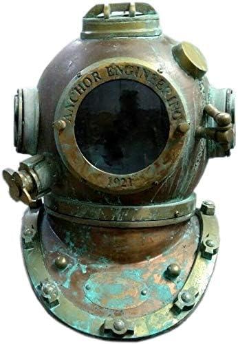 Diving Helmet Vintage U S Navy Mark V Antique Nautical Diver/'s Choice Maritime