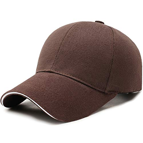 Baseballmütze Outdoor-sportmütze Mode Peaked Cap 56-60cm Kaffeefarbe