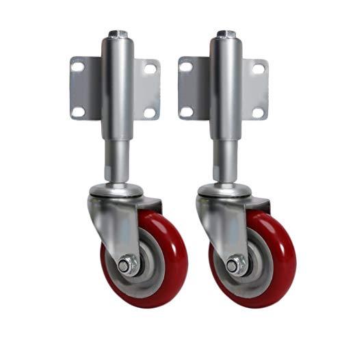 AnSafe Polea telescópica, muelle de amortiguación universal/freno grande rueda de puerta corredera de hierro rueda guía ruedas 2/3/4/5 pulgadas (color : rueda universal, tamaño: 4 pulgadas)