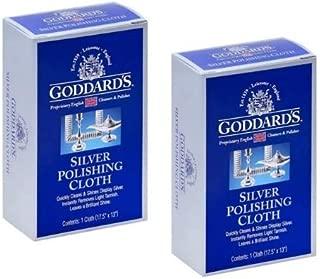 Goddard's Silver Polishing Cloth, Pack of 2