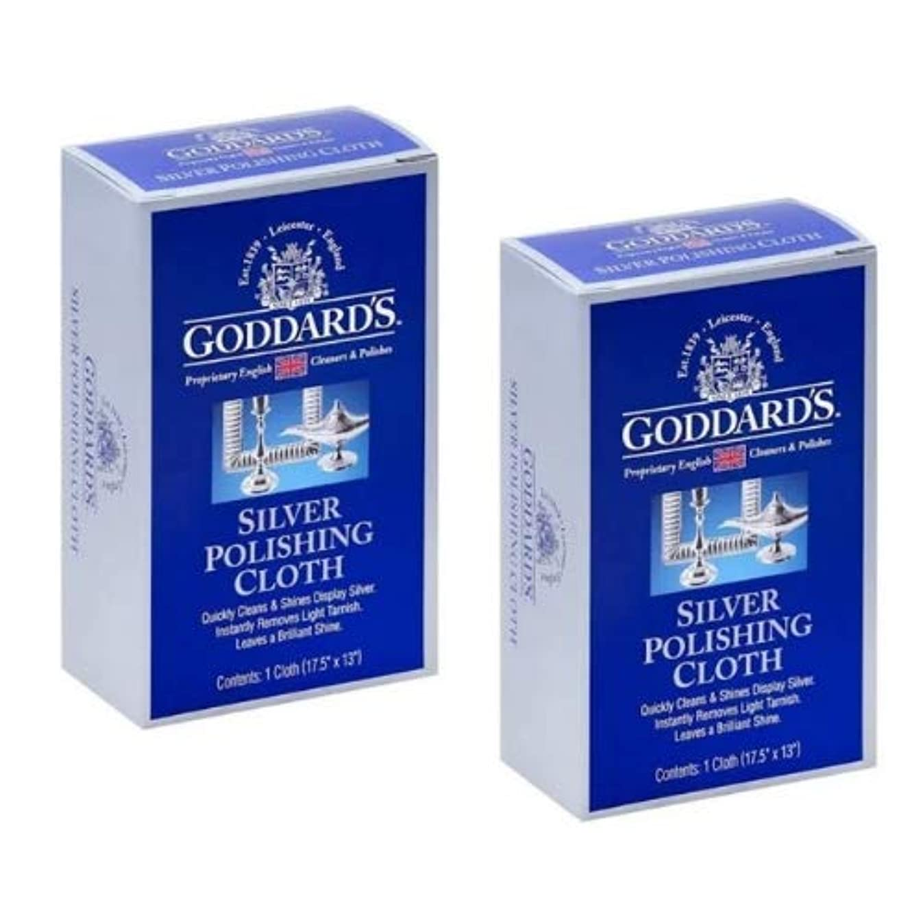 Goddard's Silver Polishing Cloth, Pack of 2
