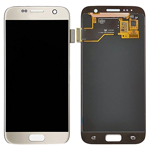 IPartsBuy LCD-scherm + Touch Screen Digitizer Vergadering Vervanging for Samsung Galaxy S7 / G930 Accessory Verwisselbare Replacement (Color : Gold)