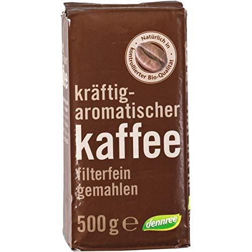 dennree Röstkaffee, gemahlen (500 g) - Bio