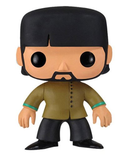 Funko PDF00004367 - Pop Rocks, Yellow Submarine, The Beatles: George Harrison, Figura de 10 cm (FUNWWBH2695) - Figura Head Pop George Harrison Beatle