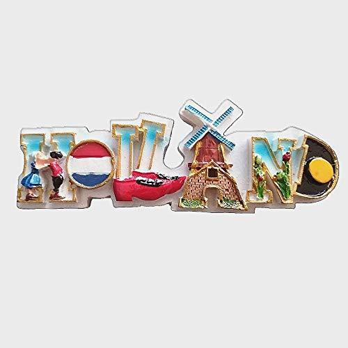 Imán de nevera 3D con diseño de letra Holanda, Países Bajos, colección de regalo, decoración para el hogar y la cocina