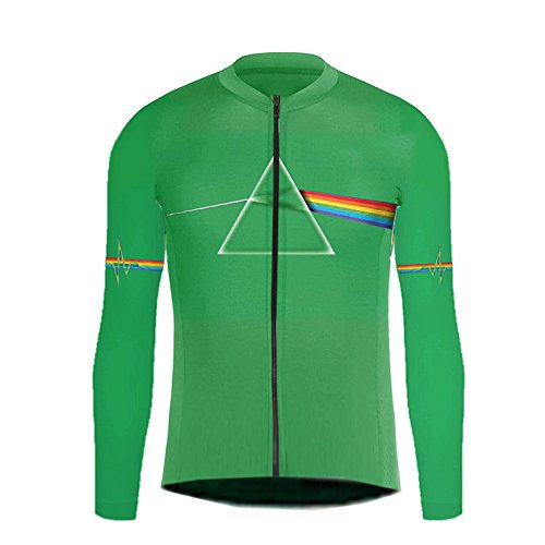 Uglyfrog Ciclismo Hombres Manga Larga Primavera Ropa Maillots de Bicicleta MTB Camiseta Cremallera Completa Abrigo