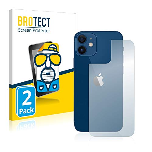 BROTECT 2X Entspiegelungs-Schutzfolie kompatibel mit Apple iPhone 12/12 Pro (Rückseite) Bildschirmschutz-Folie Matt, Anti-Reflex, Anti-Fingerprint