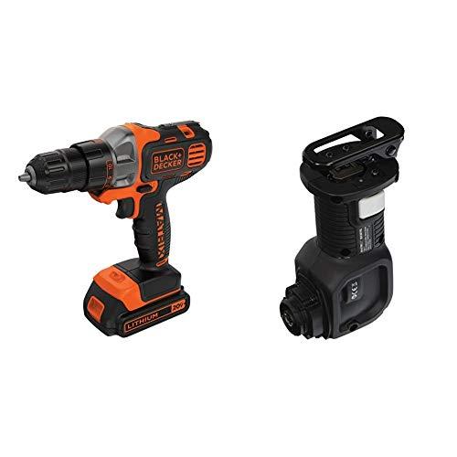 BLACK+DECKER 20V MAX Matrix Cordless Drill/Driver with Reciprocating Saw Accessory (BDCDMT120C & BDCMTRS)
