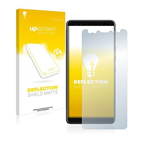 upscreen Entspiegelungs-Schutzfolie kompatibel mit HTC U12 Plus – Anti-Reflex Bildschirmschutz-Folie Matt