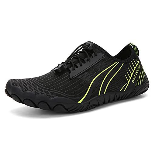 KUXUAN Ciclismo zapatos-2021 nuevo al aire libre cinco dedos netos zapatos senderismo versión deportiva zapatos de senderismo cross-country rock escalada running zapatos,Negro-37