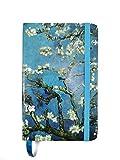 Notebook Van Gogh - Taccuino artistico tascabile con copertina rigida e chiusura ad elastico, diario da viaggio con pagine a righe (A6) (Mandorlo fiorito)