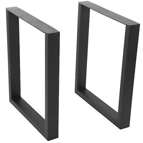 Soportes de patas de mesa de acero industrial para patas de escritorio de metal para patas de encimera, marcos cuadrados, estilo industrial, juego de 2 piezas (40 x 43 cm)