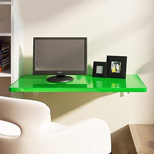 Mesa Plegable Mesa de Comedor Escritorio de Pared Colgante Escritorio de computadora Mesa de Estudio Colgante de Pared, Verde, Adecuado para Sala de Estar Librería