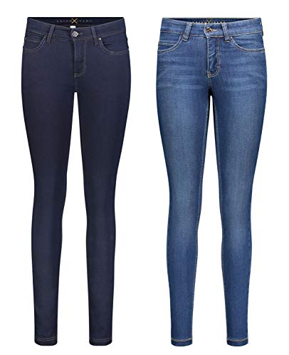 MAC Dream Skinny - 2er Pack Damen Jeans in Verschiedene Farbvarianten, Größe18:W42/L28, Farbe:D801+D569