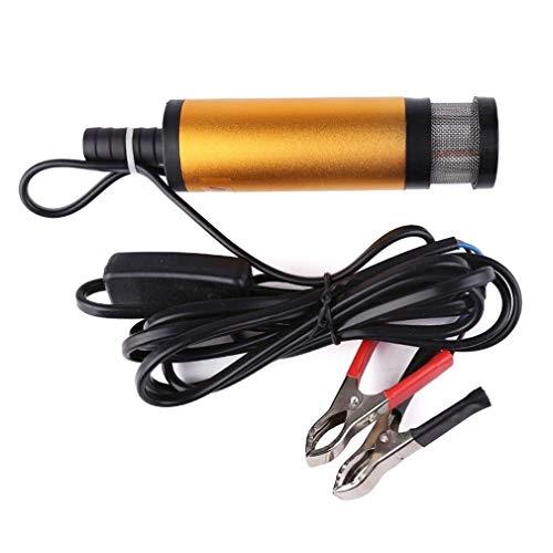 CAIZHIXIANG Bomba de Combustible portátil 12V / 24V Mini Bomba extractora eléctrica de la Bomba de Agua y Aceite con el Interruptor de Apagado de Freno Coche (Color : Oro, Size : 12v)