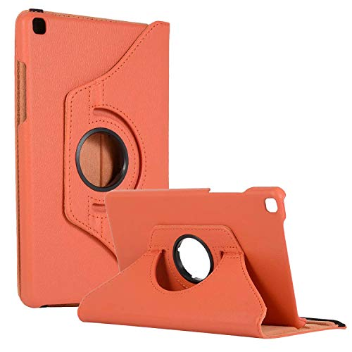 SM-T290 Rotating Case SM-T295 Cover, Galaxy Tab A 8.0 2019 Case, Coopts Slim Anti-Shock Shell 360 Degree Rotating Swivel Typing & Viewing Stand Cover for Samsung Galaxy Tab A8 T290 T295 2019, Orange