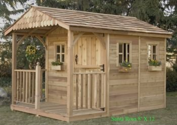 Outdoor Living Today Santa Rosa Wood Shed 8x12