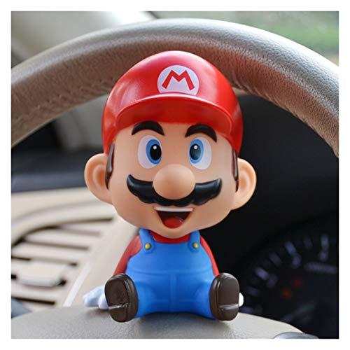 MNZDDDP Super Mario O 'Maleo Hermano Shake Head Doll Accesorios AUTERIORES Interiores Auto AUTORIA Decoraciones para El Hogar Montaje De Teléfonos Celulares (Color Name : Mario)
