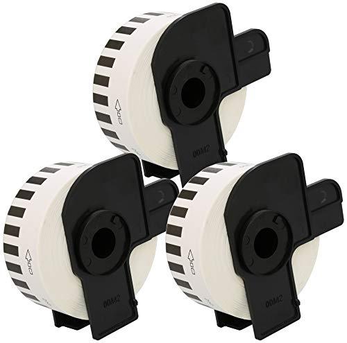 3 x DK-22210 29mm x 30.48m Endlos-Etiketten kompatibel für Brother P-Touch QL-500 QL-550 QL-560 QL-570 QL-700 QL-710W QL-720NW QL-800 QL-810W QL-820NWB QL-1050 QL-1100 QL-1110NWB Etikettendrucker