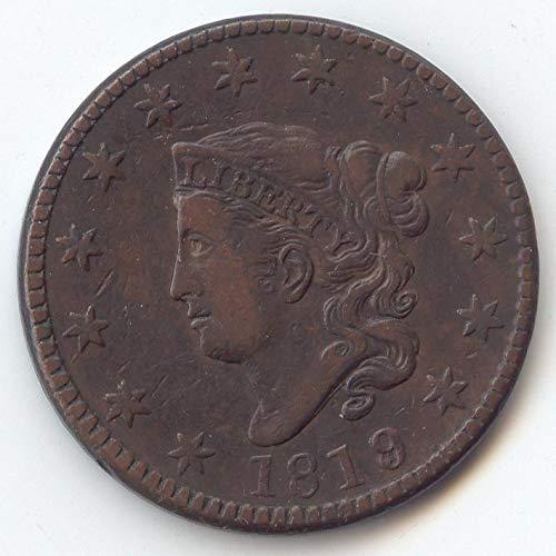1819 Coronet Head 1819/8 Large Cent Choice Very Fine