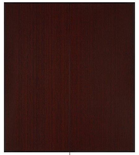 Anji Mountain Plush Tri-Fold Bamboo Chairmat, 42 x 48-Inch, 12mm Thick, Dark Cherry