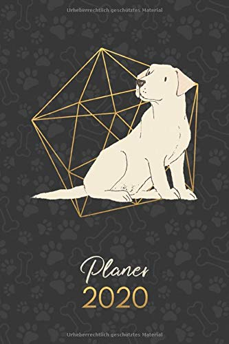 Planer 2020: Terminkalender Wochenplaner Monatsplaner - Labrador Retriever Creme (12 Monate Jan bis Dez - Kalender - Hund, Band 68)