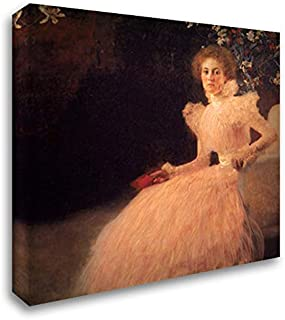 Portrait of Sonja Knips 20x20 Gallery Wrapped Stretched Canvas Art by Gustav Klimt
